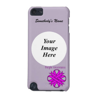 Purple Clover Ribbon Template iPod Touch 5G Case