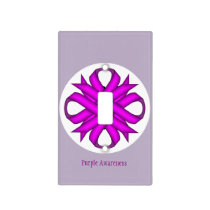 Purple Clover Ribbon Template Light Switch Cover