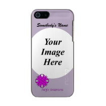 Purple Clover Ribbon Template Metallic Phone Case For iPhone SE/5/5s