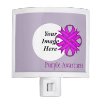 Purple Clover Ribbon Template Night Light
