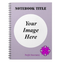 Purple Clover Ribbon Template Notebook