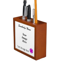 Purple Clover Ribbon Template Pencil/Pen Holder