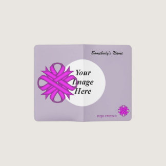 Purple Clover Ribbon Template Pocket Moleskine Notebook