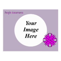 Purple Clover Ribbon Template Postcard