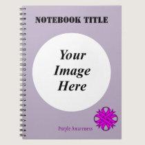 Purple Clover Ribbon Template Spiral Notebook