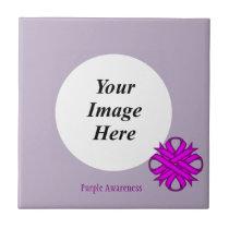 Purple Clover Ribbon Template Tile