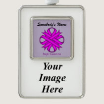 Purple Clover Ribbon Template (V-I) Ornament