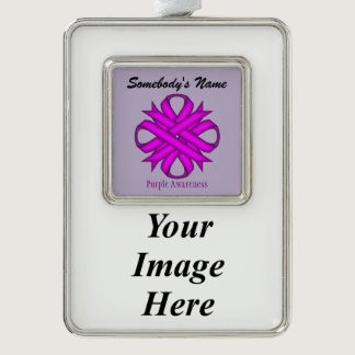 Purple Clover Ribbon Template (V-I) Ornament
