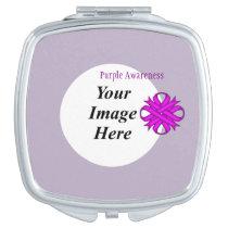 Purple Clover Ribbon Template Vanity Mirror