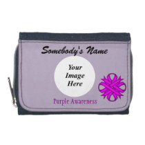 Purple Clover Ribbon Template Wallet