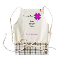 Purple Clover Ribbon Template Zazzle HEART Apron