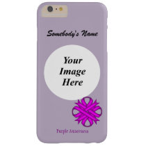 Purple Clover Ribbon Tmpl by Kenneth Yoncich Barely There iPhone 6 Plus Case