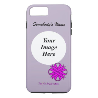 Purple Clover Ribbon Tmpl by Kenneth Yoncich iPhone 8 Plus/7 Plus Case
