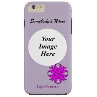 Purple Clover Ribbon Tmpl by Kenneth Yoncich Tough iPhone 6 Plus Case