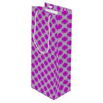 Purple Clover Ribbon Wine Gift Bag
