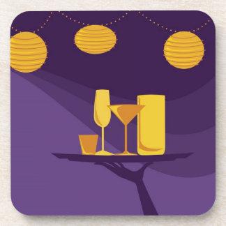Purple Cocktail Coasters