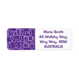 Purple cocktail party label
