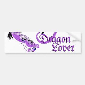 Purple Coiled Dragon Bumper Sticker