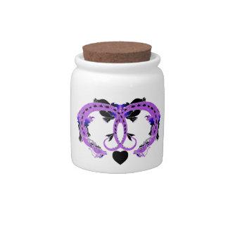 Purple Coiled Dragon Candy Jar