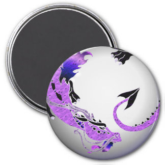 Purple Coiled Dragon Magnet