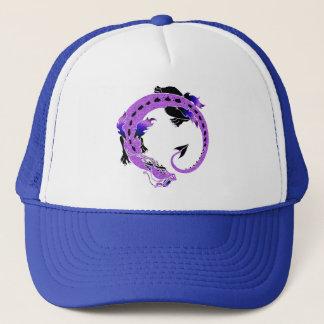 Purple Coiled Dragon Trucker Hat