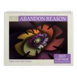 Purple Collection Abstract Fractal 2015 Calendar