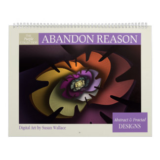Purple Collection Abstract Fractal Calendar