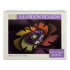 Purple Collection Abstract Fractals 2018 Calendar