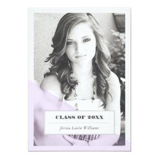 Purple Color Block Graduation Invitations