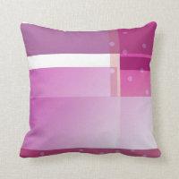 Purple color blocks polka dots throw pillow