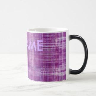 Purple Color Modern Art Mug with Your Name