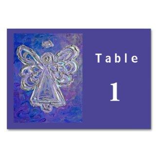 Purple Color Series Angel Custom Table Cards