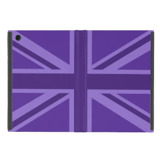 Purple Color Union Jack Flag Design Case For iPad Mini