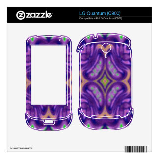 Purple colored abstract pattern skins for the LG quantum