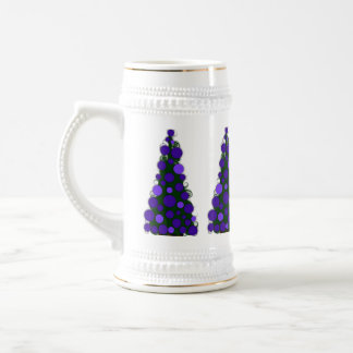 Purple Colored Christmas Tree Stein