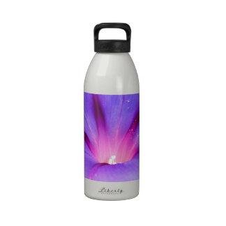 Purple Colored Morning Glory Flower Garden Reusable Water Bottles