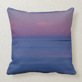 Purple-colored sunrise on ocean shore 2 throw pillow