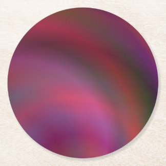 Purple colorful abstract round paper coaster