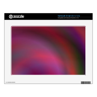Purple colorful abstract decals for small netbooks