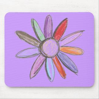 Purple colorful Flower Mouse Pad