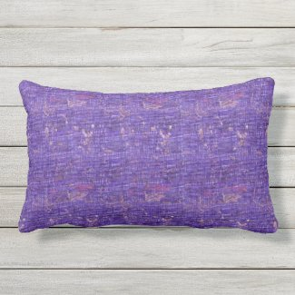 Purple Colorful Grunge Outdoor Lumbar Pillow
