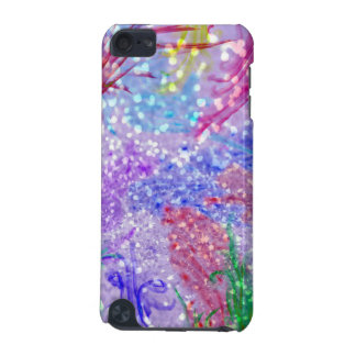Purple Colorful Watercolor Abstract Glitter Photo iPod Touch (5th Generation) Cover