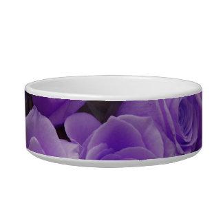 Purple colorized rose bunch bowl