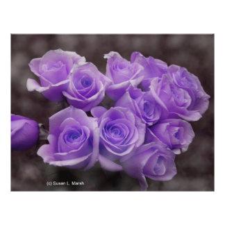 Purple colorized rose bunch custom flyer