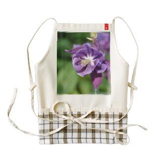 Purple Columbine Flower in Bloom Zazzle HEART Apron