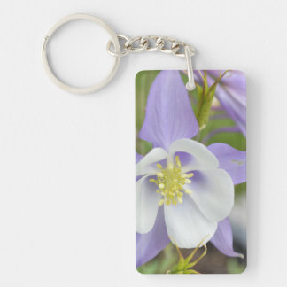 Purple Columbine Keychain