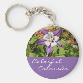 Purple Columbine Keychain