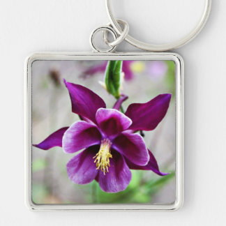 'Purple Columbine' Keychain