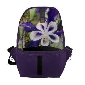 Purple Columbines Messenger Bag