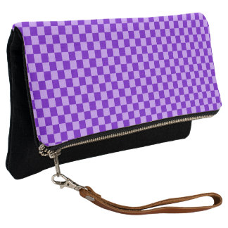 Purple Combination Checkerboard by Shirley Taylor Clutch